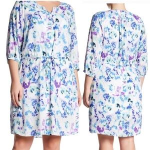 NYDJ water front lilies floral 1X dress